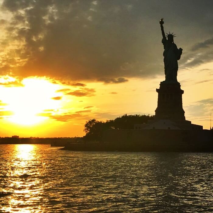 The Statue of Liberty and Ellis Island