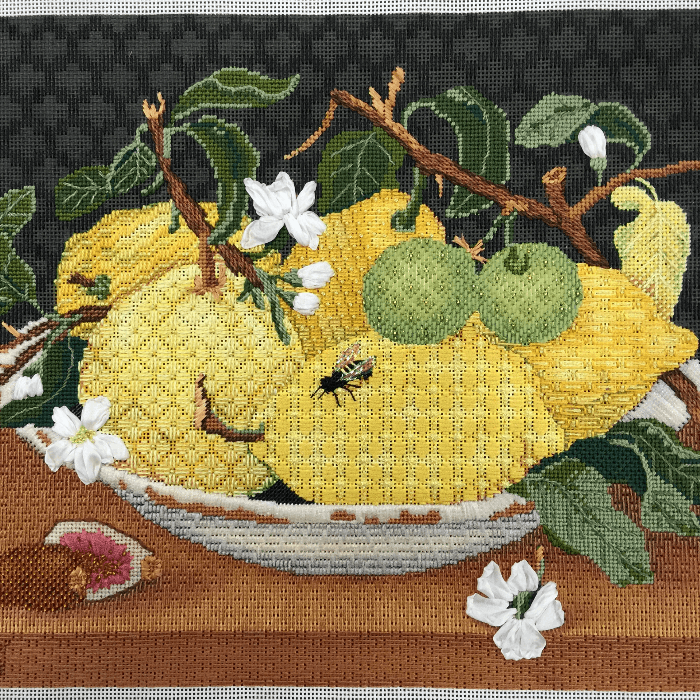 Patricia Sone Needlepoint Canvas with Lemons