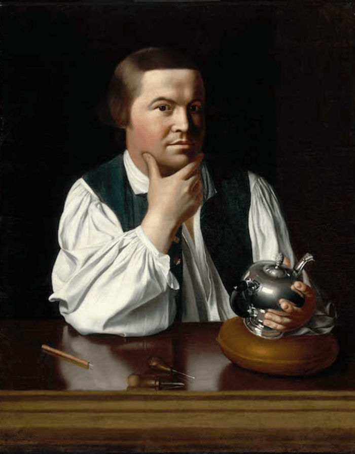 Paul Revere Oil Portrait