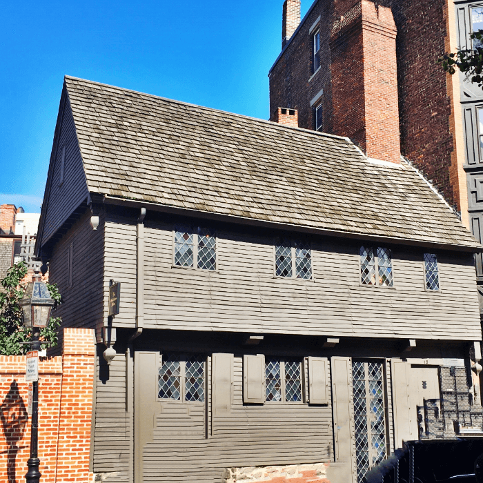 Old grey house home to Paul Revere