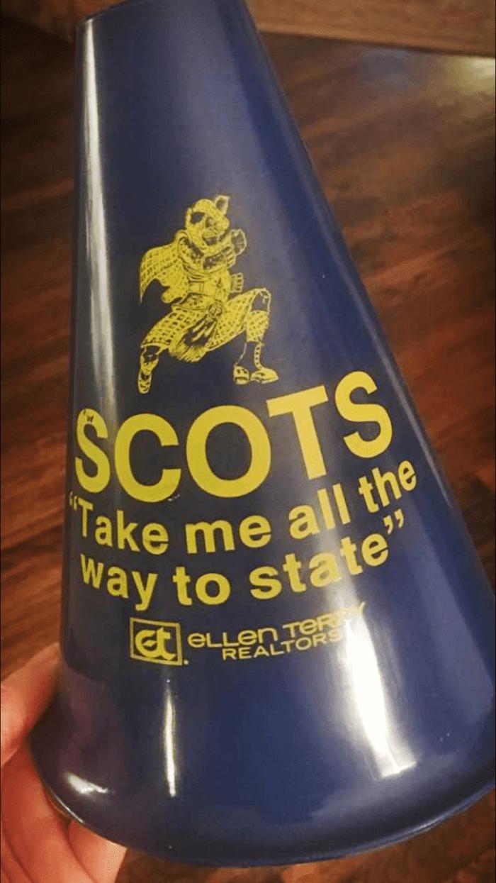 Highland Park High School plastic megaphone