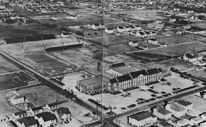 Highland Park High School Historical arial photo