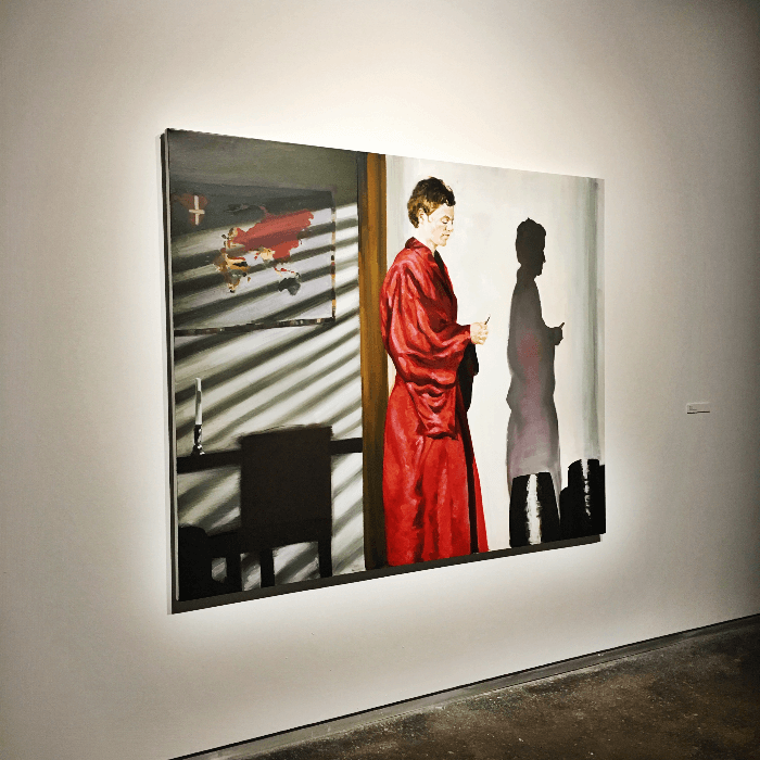 Must visit gallery Dallas Contemporary Art Gallery Priest painting