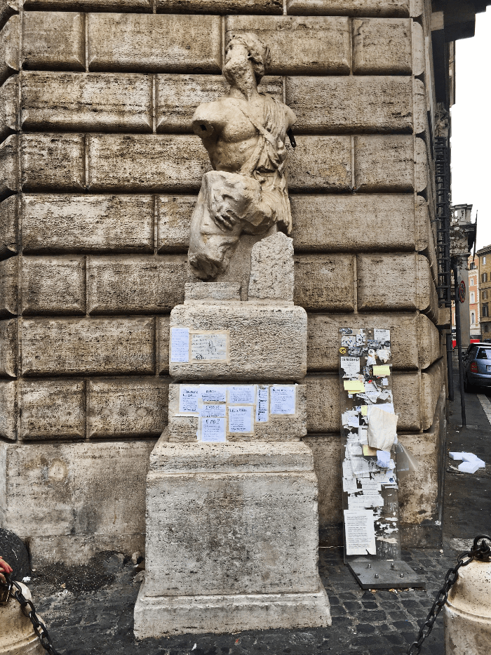 Roman Sculpture of Pasquino