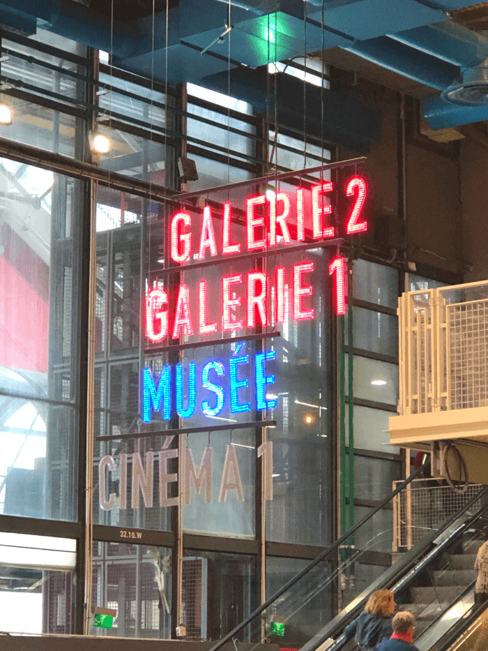 Centre Pompidou Galerie 1 and Galerie 2 entrance