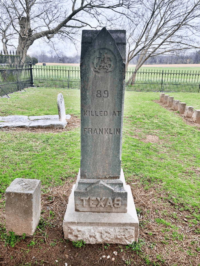 Texas Grave Marker in Carnton Franklin Tennessee