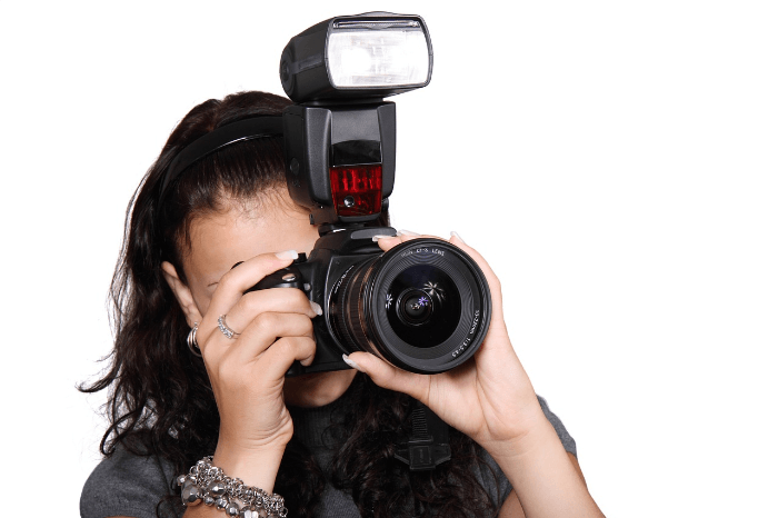 camera with flash