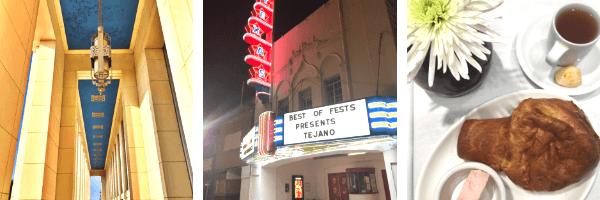 Three pics showing historic venues in Dallas