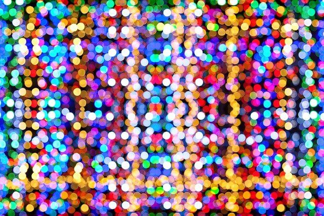 strings of colored Christmas lights