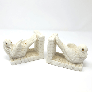 Alabaster Dove Bookends