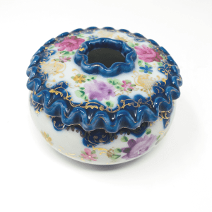Blue and Pink Chinoiserie Incense Box