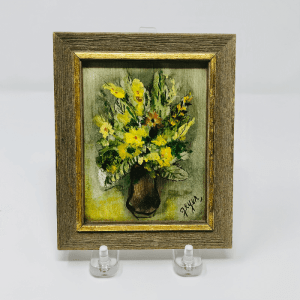 Miniature Yellow Flowers Oil Painting