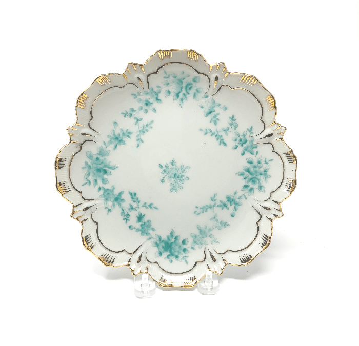 Vintage Turquoise and Gold Plates