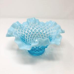 Turquoise Fenton Hobnail Bowl