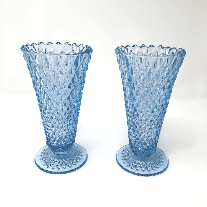 Blue Diamond Point Vase