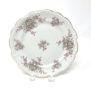 Pink Floral Haviland Salad Plates