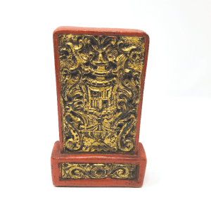 Red & Gold Chinoiserie Bookend