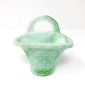 Alabaster Basket Vase
