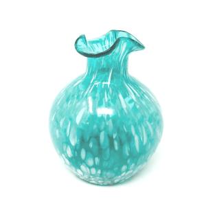 Turquoise Art Glass Vase