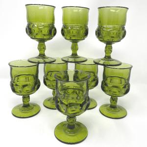 Green Tiffin Thumbprint Glasses