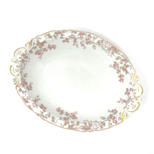 Haviland Limoges Oval Bowl with small pink flowers