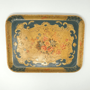 Large Blue Paper Mache Tray