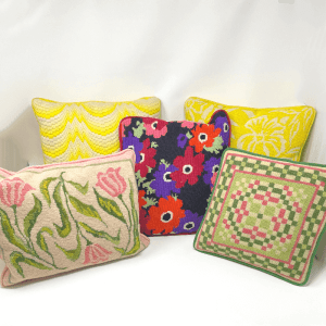Vintage Needlepoint Pillows
