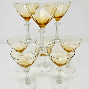 Caramel Colored Martini Glasses