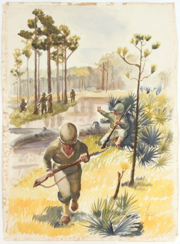 66-1943traininginfloridawatercoloronpaper31x223-4pps815