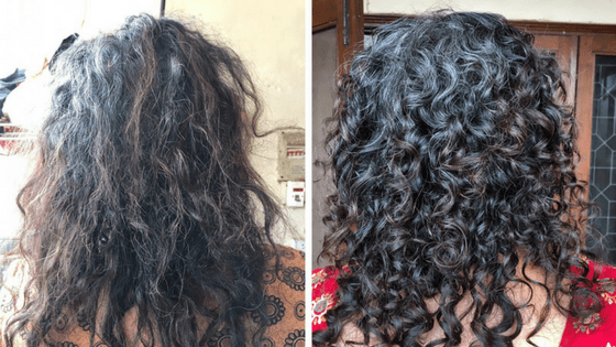 Dry Curly Hair vs Hydrated Curly Hair
