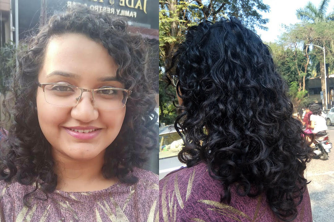 Curl activator before and after