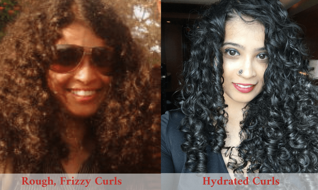 Curls combed dry Vs curls combed after conditioner