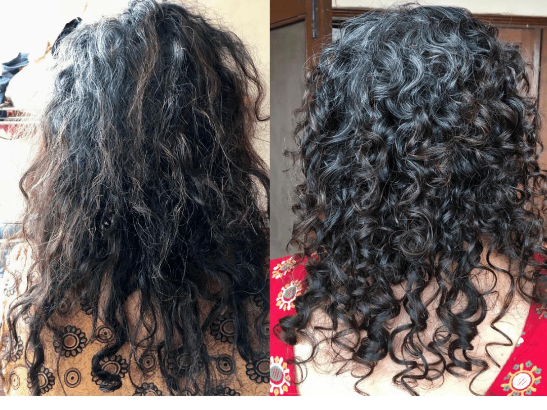 Frizzy Hair transformation into Healthy Curls