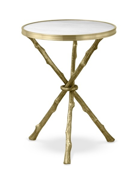 Faux Bois Accent Table with Marble Top, Williams-Sonoma Home.