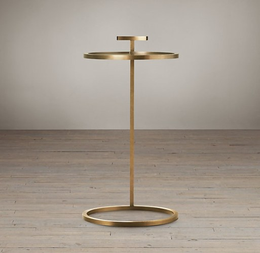 Martini Brass Side Table, Restoration Hardware.