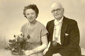 Daisy Evelyn Pearson nee Keevill with husband Harry - c 1957
