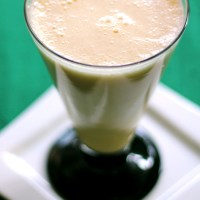 Peach-Apricot and Orange Milkshake