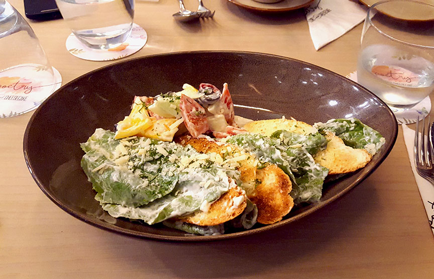 Vegetarian Caesar's Salad, Poetry by Love and Cheesecake