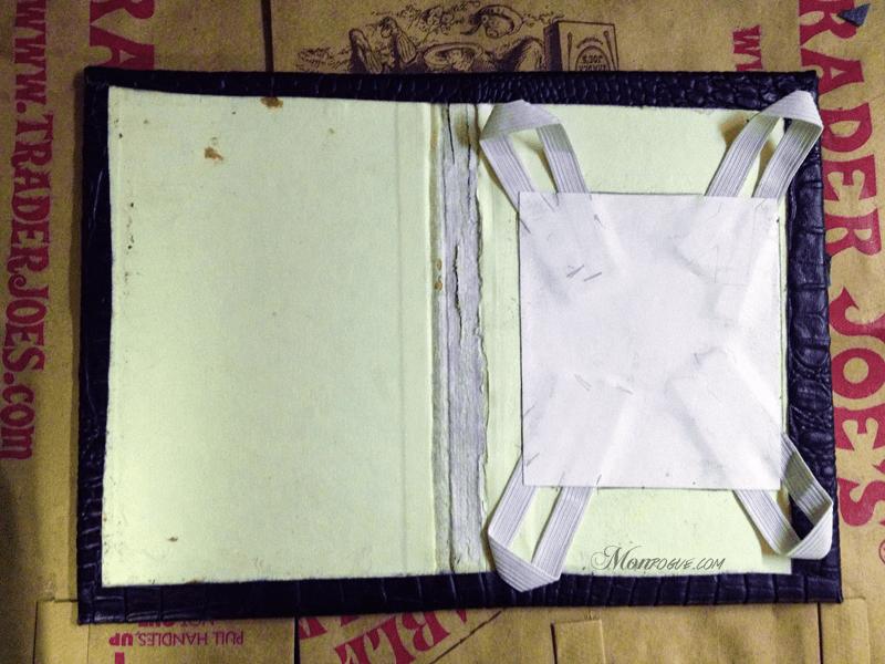 DIY iPad Case Step 4: Glue the inside edges - Monrogue