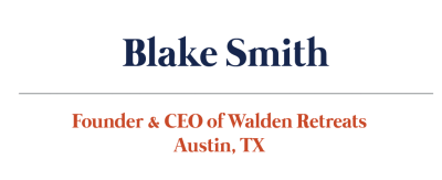 Blake Smith Walden Retreats