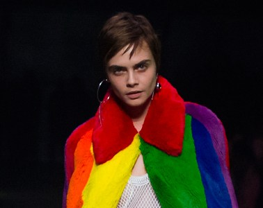 Cara Delevingne in Burberry latest collection