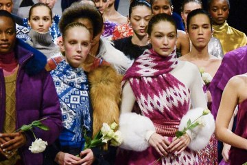 Models close the Prabal Gurung AW18 show
