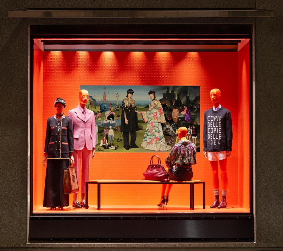 Gucci's SS18 campaign in-store