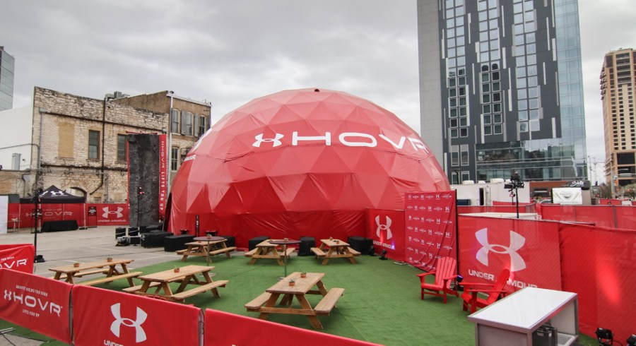 Under Armour's Hovr activation at SXSW (Image via AdWeek)