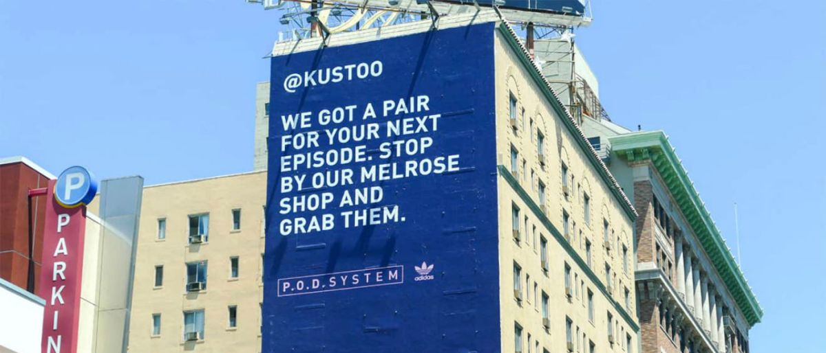adidas Originals influencer marketing billboard campaign