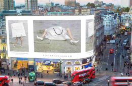 Victoria Beckham at Piccadilly Circus