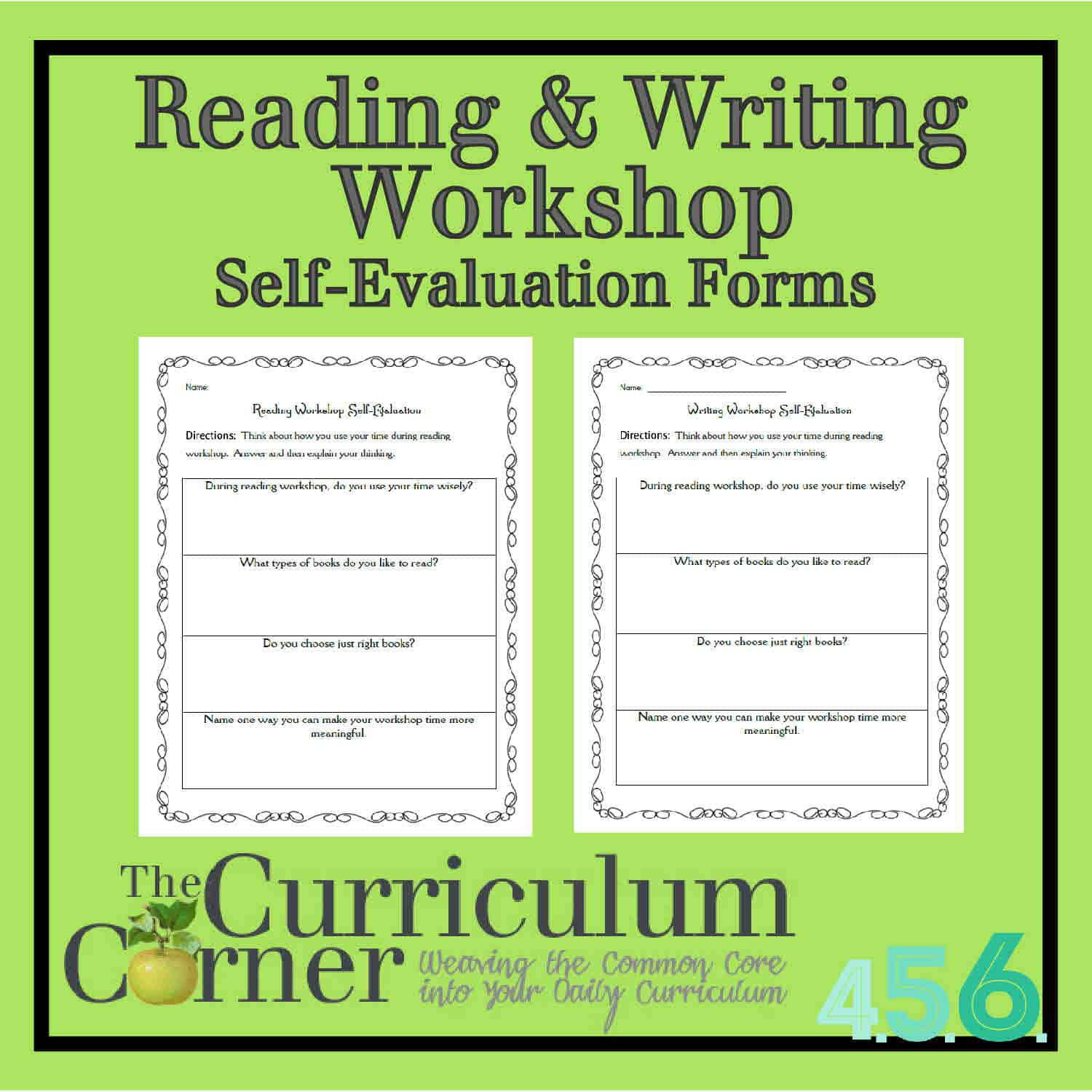 Reading & Writing Workshop Self Evaluation Forms The