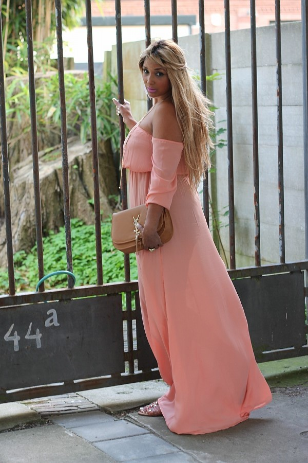 Flowy pink jacky luxury dress