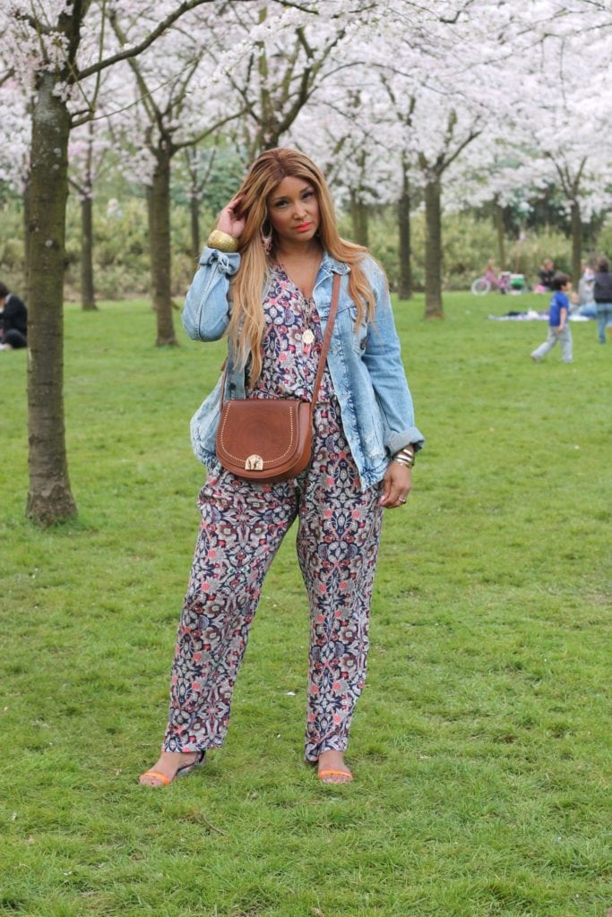 FLORAL JUMPSUIT WITH MS MODE