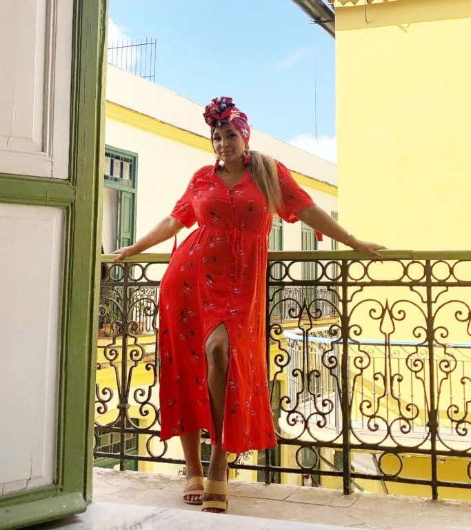 ms mode red maxi dress